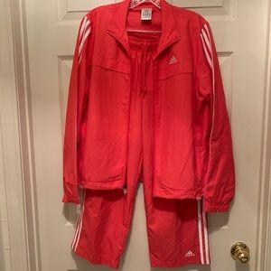 NWOT Coral Adidas Sweatsuit